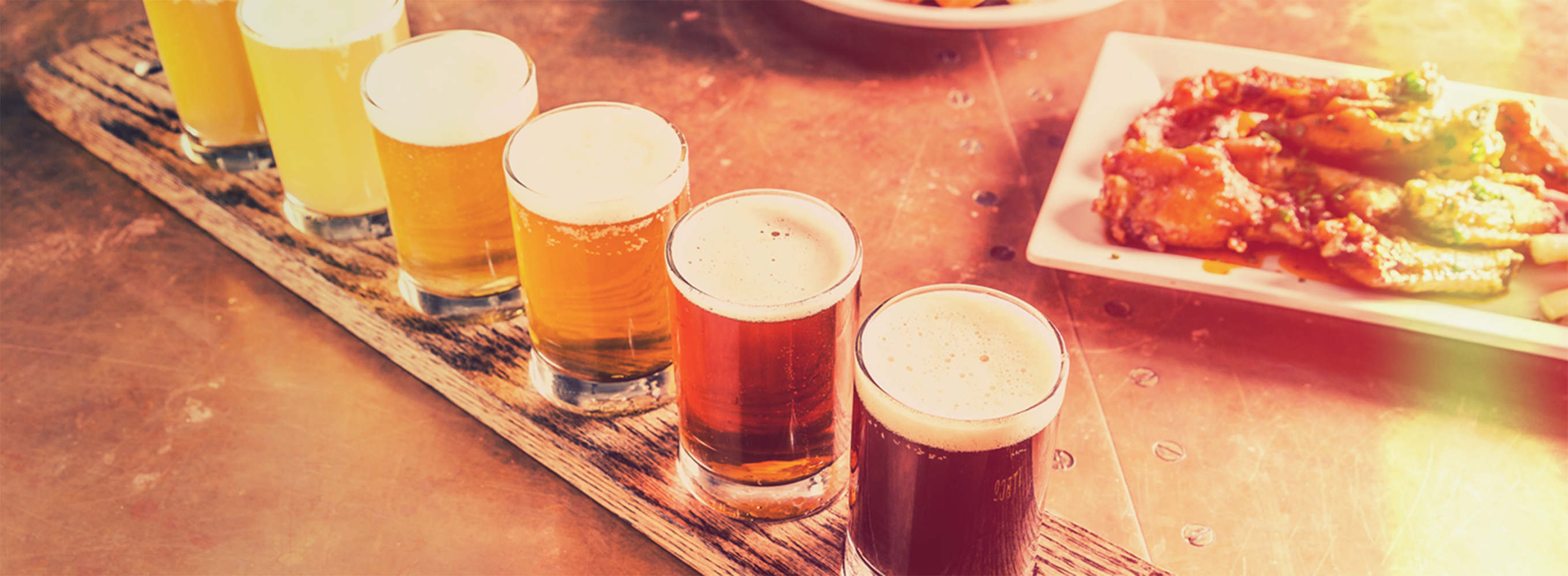 A flight of beers