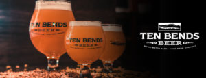 Three Ten Bends beers in a glass