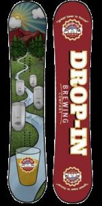 Powe.Snowboard custom board with Drop-In Brewing