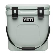 YETI Roadie 24 cooler. Color is sagebrush green